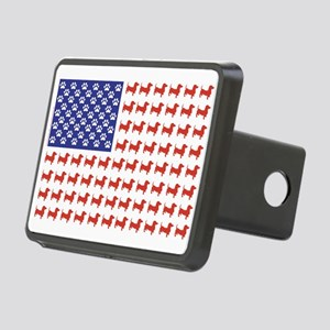 Patriotic Dachshund/USA Rectangular Hitch Cover